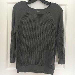 Express grey long sleeve sweater